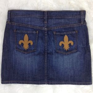 GAP Fleur de Lis Pocket Jean Mini Skirt Size 4